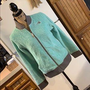 The North Face shaggy fleece jacket size girls XL